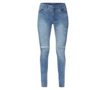 Second Skin Fit Jeans mit Destroyed-Effekten