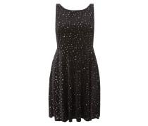 Kleid mit Sternenmuster in Metallicoptik