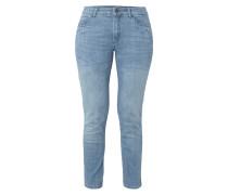 Stone Washed Slim Fit Jeans mit Ziersteinen