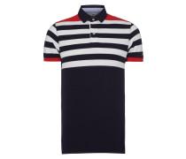 Slim Fit Poloshirt mit Logo-Streifen