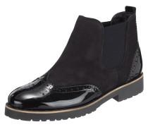 Chelsea Boots aus Veloursleder und Lackleder