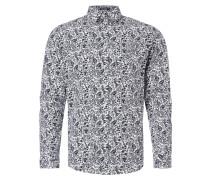 Fitted Freizeithemd mit floralem Muster