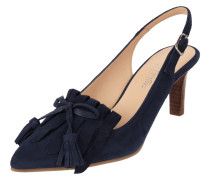 Slingpumps aus Veloursleder mit Shoe Flaps