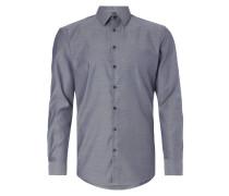 Slim Fit Business-Hemd mit feiner Webstruktur