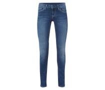 Slim Fit 5-Pocket-Jeans im Stone Washed Look