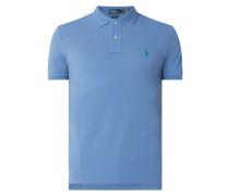 Custom Slim Fit Poloshirt mit Logo-Details