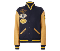 College-Jacke mit Patches