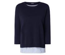 Pullover mit verlängertem Untertop