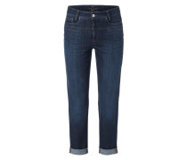 Stone Washed Slim Fit Jeans mit Zierpaspeln