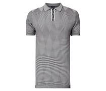 Poloshirt mit Streifenmuster