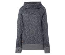Sweatshirt mit Tubecollar und Daumenlöchern