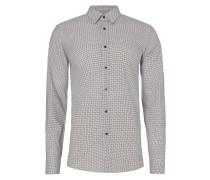 Slim Fit Hemd mit Zickzack-Muster