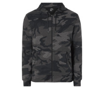 Sweatjacke mit Camouflage-Muster