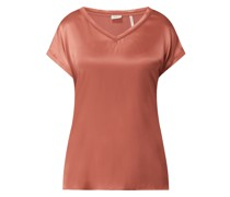Shirt aus Seide-Elasthan-Mix