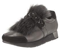 Slip-On Sneaker aus Leder mit Faux Fur