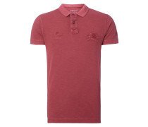 Regular Fit Poloshirt mit Stickereien