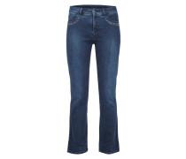 Straight Fit Jeans mit Ziersteinbesatz