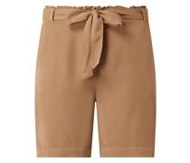 Shorts mit Paperbag-Bund Modell 'Nucasilda'