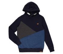 Hoodie im dreifarbigen Design
