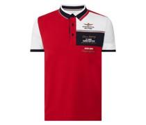 Poloshirt mit Logo-Stickereien Modell 'Typhoon'