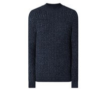 Body Fit Pullover aus Baumwoll-Schurwoll-Mix