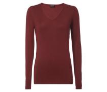 Pullover mit Zierknöpfen an den Ärmelabschlüssen