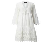 Kleid mit Häkelspitze und Zierperlenbesatz