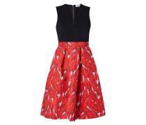 Kleid mit V-Ausschnitt in Wickeloptik