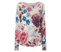 Pullover mit buntem Blumenmuster