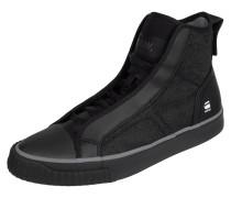 High Top Sneaker aus Canvas in Denimoptik