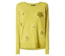 Pullover mit Stern-Aufnähern