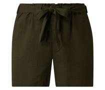 Shorts mit Leinen-Anteil Modell 'Hannah'