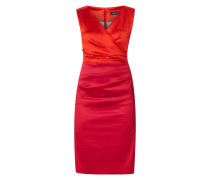 Two-Tone-Kleid aus Satin