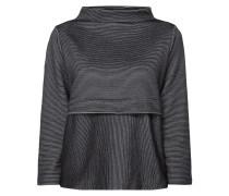 Boxy Fit Sweatshirt mit Rippenstruktur