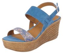 Sandalette mit Plateau Keilabsatz
