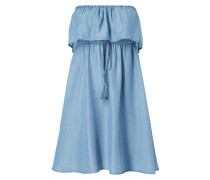 Off Shoulder Kleid in Denimoptik