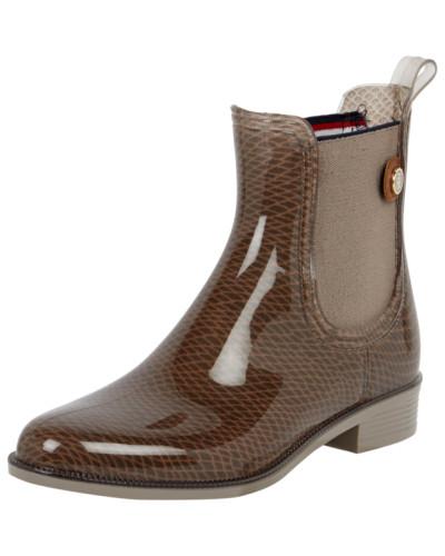 tommy hilfiger damen chelsea boots aus gummi reduziert. Black Bedroom Furniture Sets. Home Design Ideas