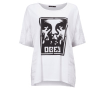 T-Shirt mit Logo- und Batik-Print