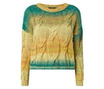 Pullover mit Zopfmuster und Farbverlauf