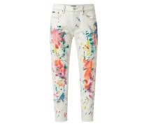 Boyfriend Fit Jeans mit dekorativen Farbklecksen Modell 'Avery'