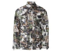 Fieldjacket mit Camouflage-Muster