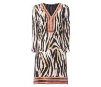 Kleid mit Tiger- und Ethnomuster