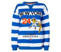 Sweatshirt mit Football-Aufnähern