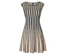 Kleid mit geripptem Streifenmuster
