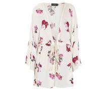 Kimono mit floralem Muster und Kordelzug