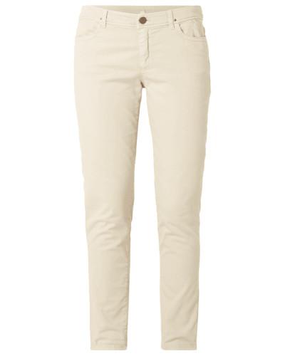 Coloured Jeans mit Ziersteinbesatz