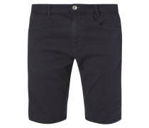Slim Fit Bermudas mit Webstruktur