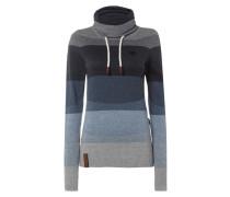 Pullover mit Tube Collar und Streifenmuster