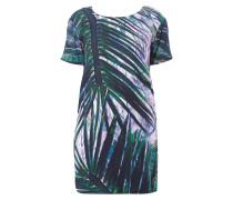 Kleid mit exotischem Print und Rückenausschnitt