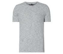 Shaped Fit T-Shirt mit Streifenmuster